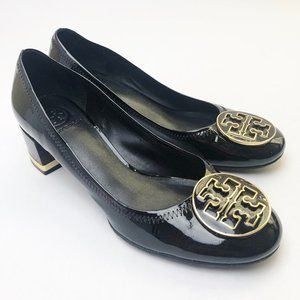 Tory Burch Amy Pump Black Patent Gold Medallion